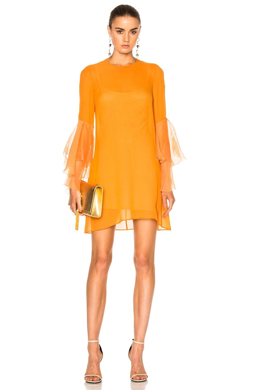 Image 1 of GALVAN Andalusian Sun Dress in Fiery Orange