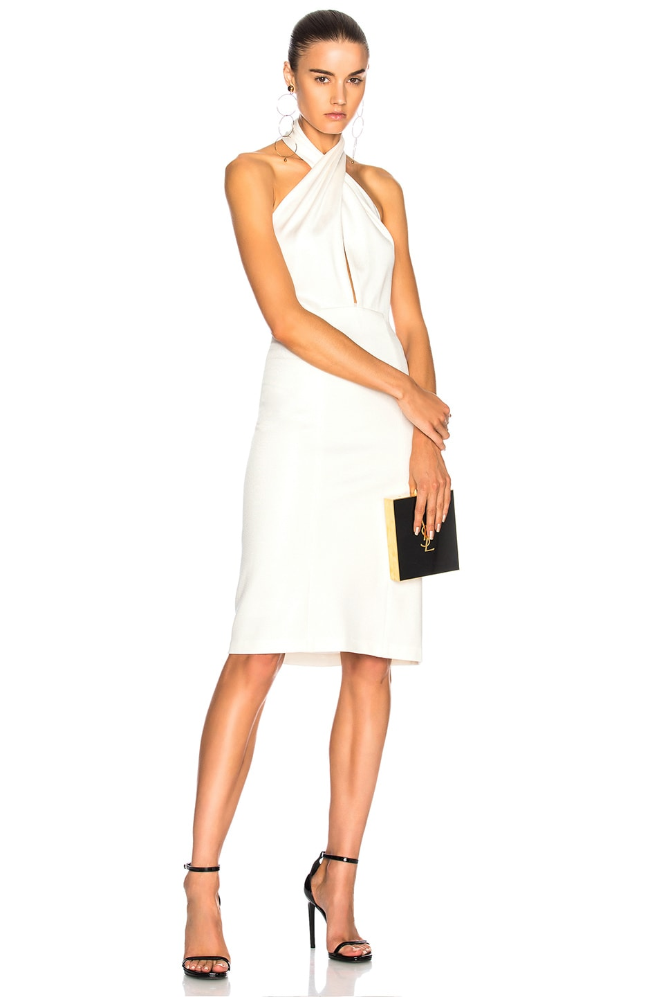 Image 1 of GALVAN for FWRD Mini Flyover Dress in White
