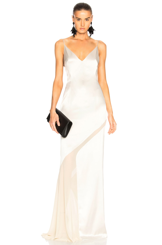 Image 1 of GALVAN Salinas Dress in Platinum & Sand