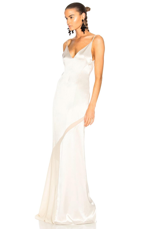 Image 3 of GALVAN Salinas Dress in Platinum & Sand