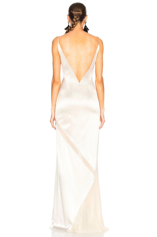 Image 4 of GALVAN Salinas Dress in Platinum & Sand