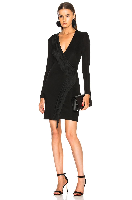 Image 1 of GALVAN Tunqui Cocktail Dress in Black