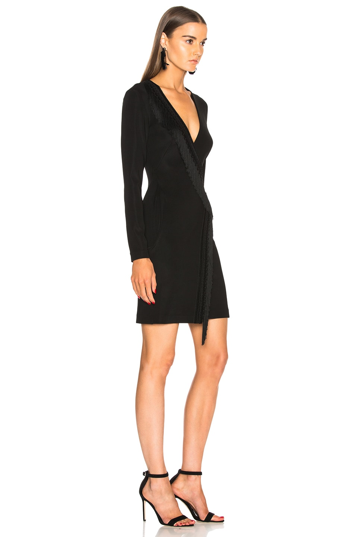 Image 2 of GALVAN Tunqui Cocktail Dress in Black