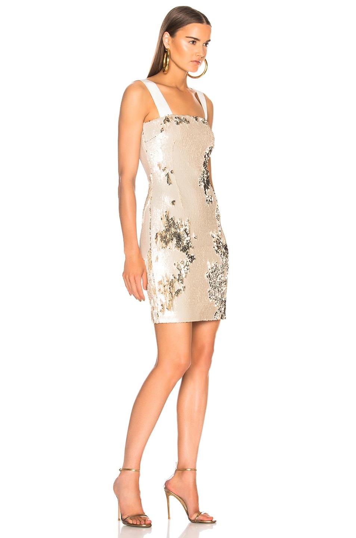 Image 2 of GALVAN Salar Mini Dress in Nude & Light Gold