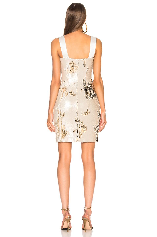 Image 3 of GALVAN Salar Mini Dress in Nude & Light Gold