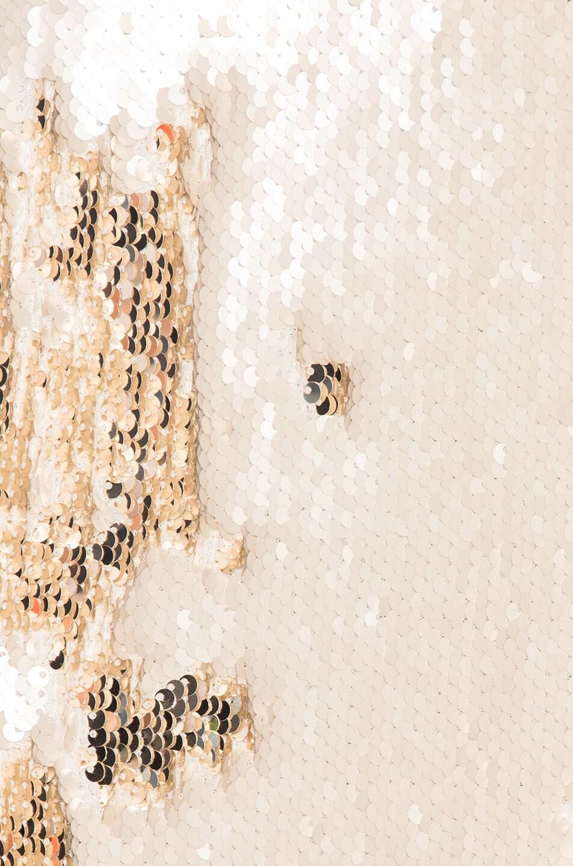 Image 4 of GALVAN Salar Mini Dress in Nude & Light Gold