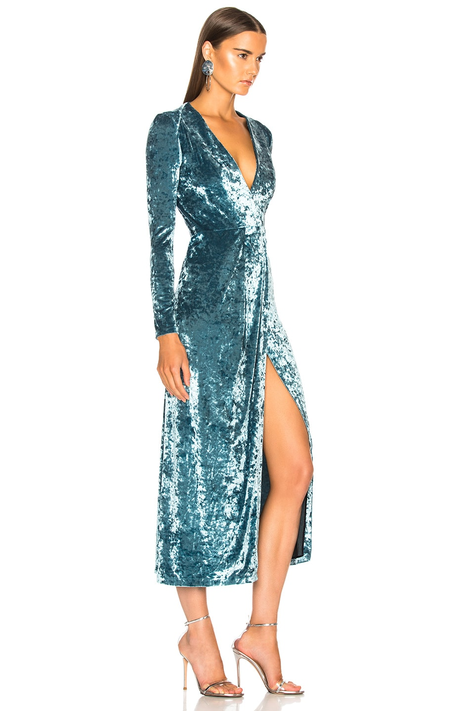 Image 2 of GALVAN Cloud Dress in Sky Blue