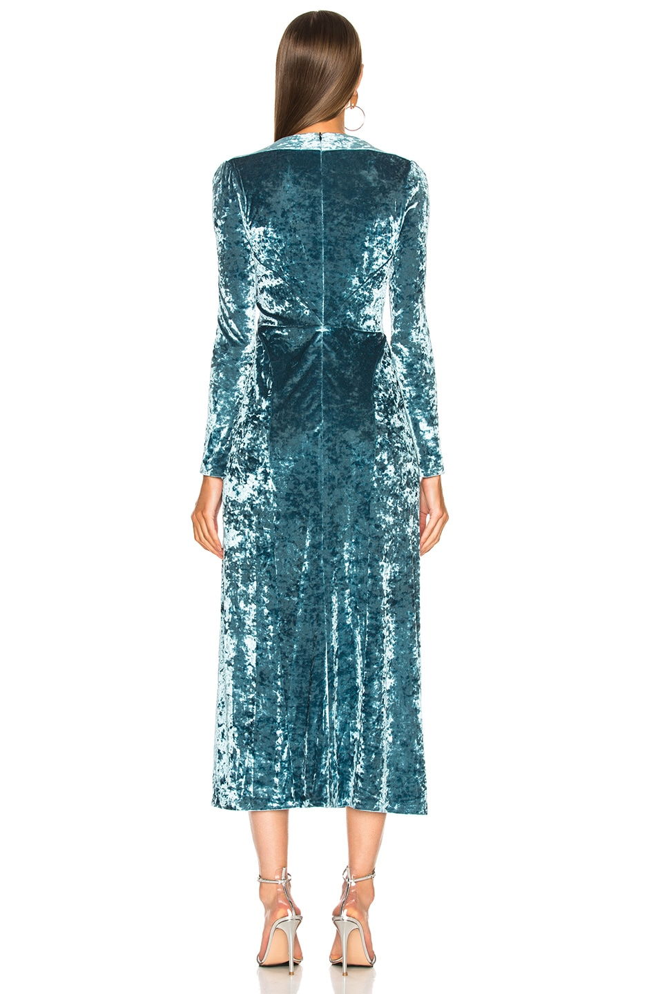 Image 3 of GALVAN Cloud Dress in Sky Blue