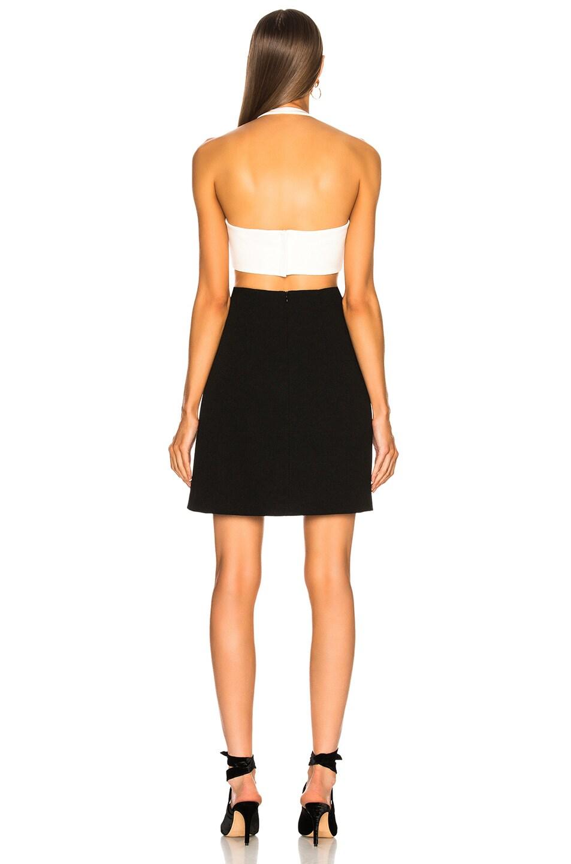 Image 3 of GALVAN Eclipse Mini Dress in White & Black
