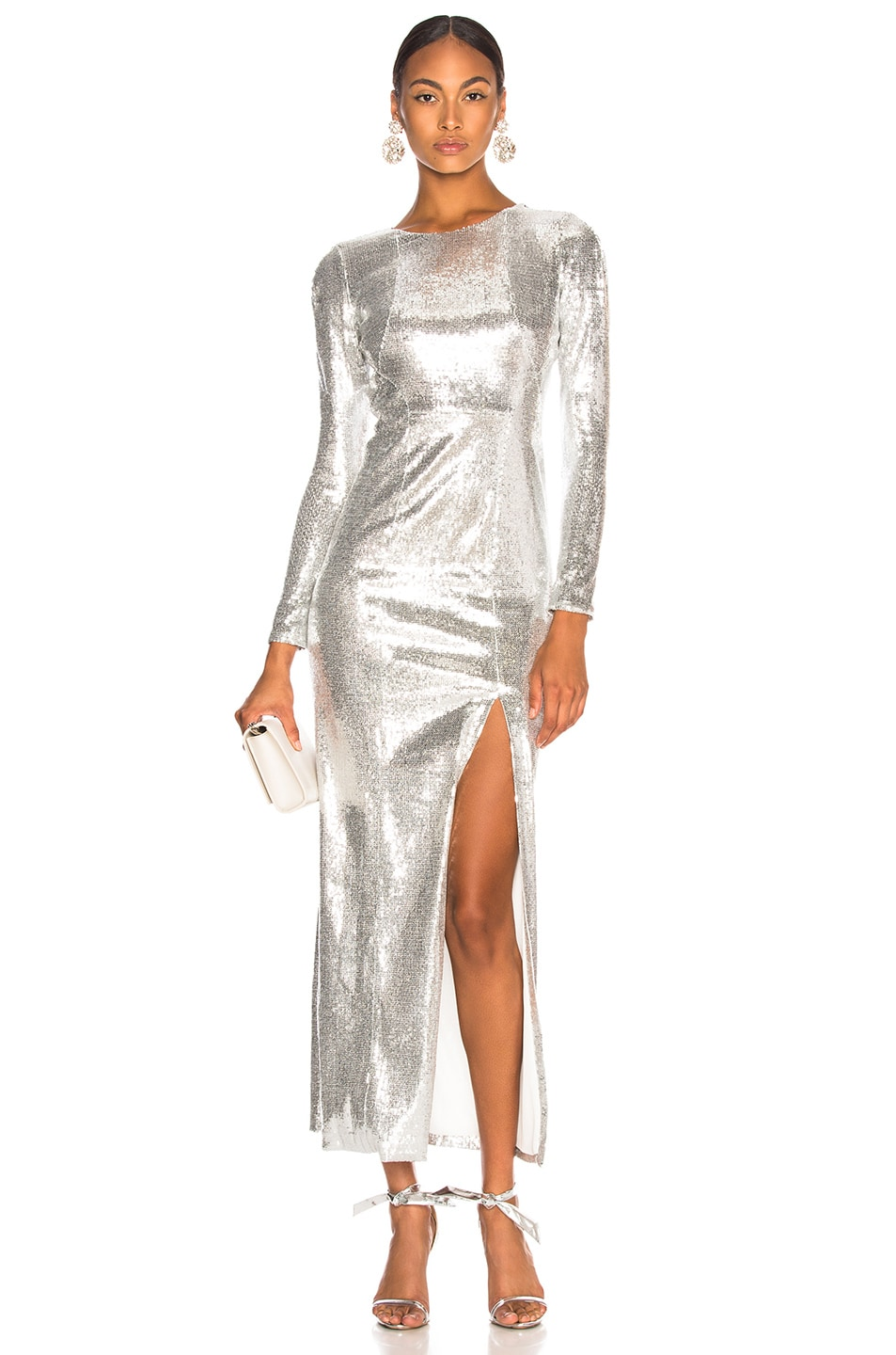 Image 1 of GALVAN Adela Dress in Silver