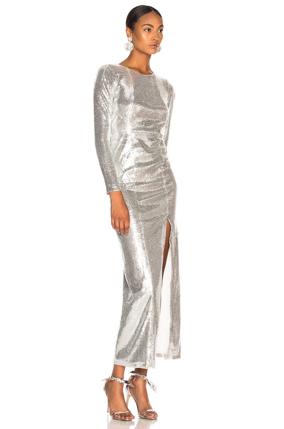 Image 2 of GALVAN Adela Dress in Silver