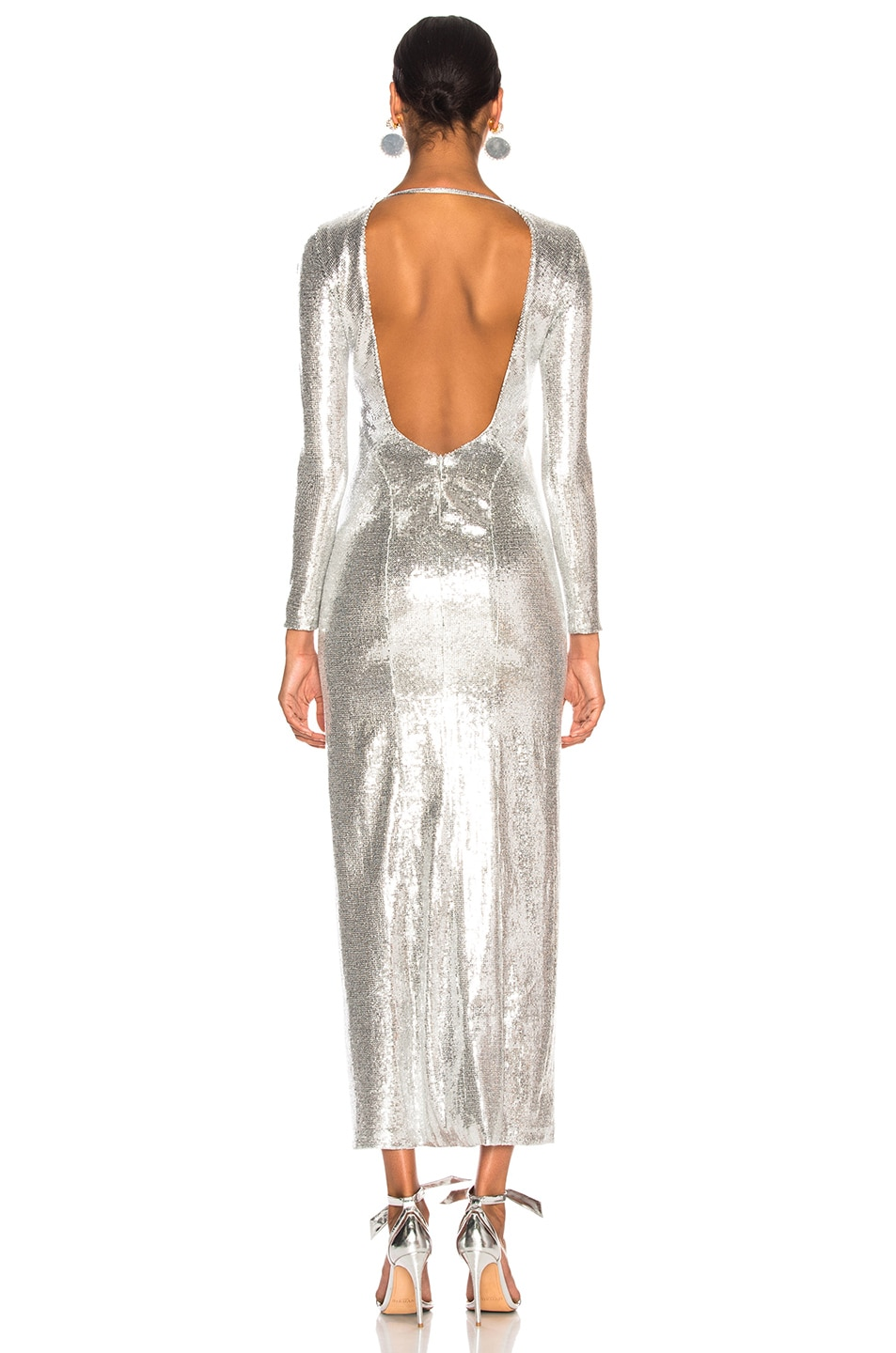 Image 3 of GALVAN Adela Dress in Silver
