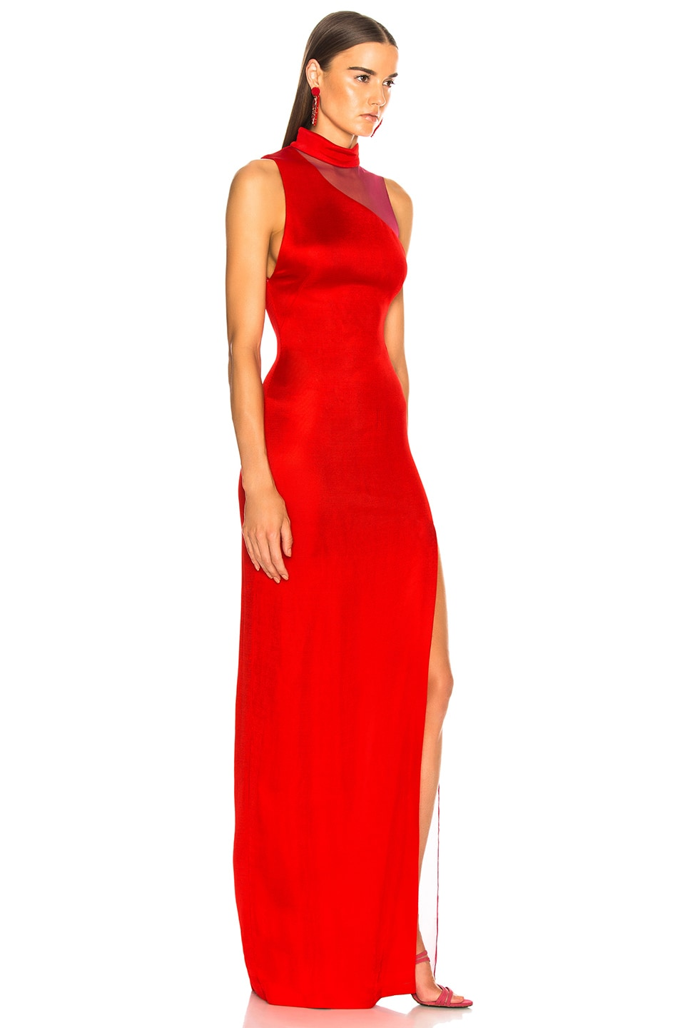 Image 2 of GALVAN Shadow Dress in Red
