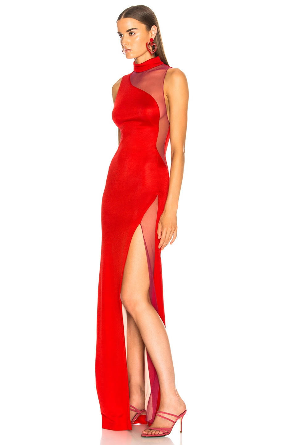 Image 3 of GALVAN Shadow Dress in Red