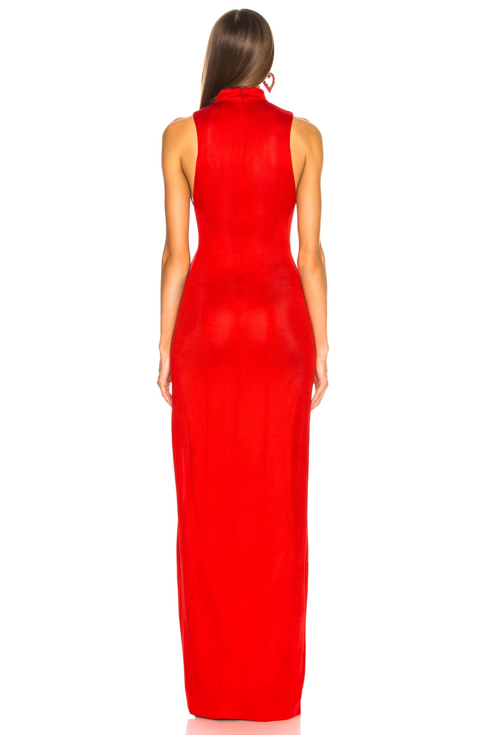 Image 4 of GALVAN Shadow Dress in Red