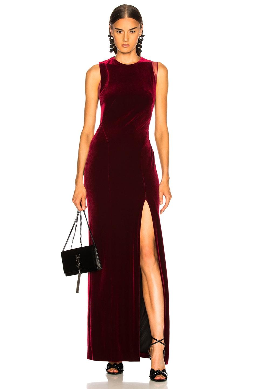 Image 2 of GALVAN Crescent Dress in Wine