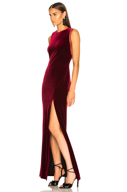 Image 4 of GALVAN Crescent Dress in Wine