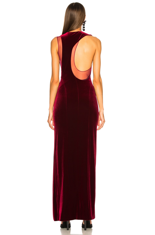 Image 5 of GALVAN Crescent Dress in Wine