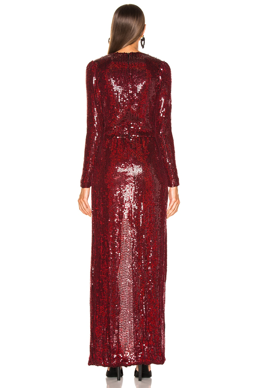 Image 3 of GALVAN Sequined Vera Dress in Red