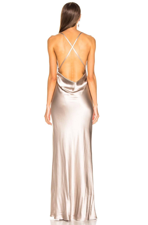 Image 3 of GALVAN Whiteley Dress in Platinum