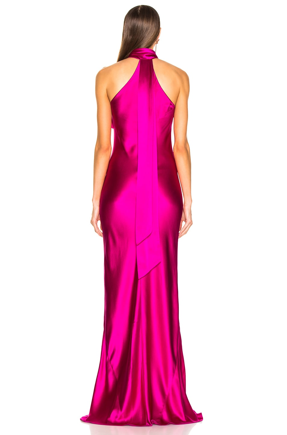 Image 4 of GALVAN Silk Pandora Dress in Fuchsia