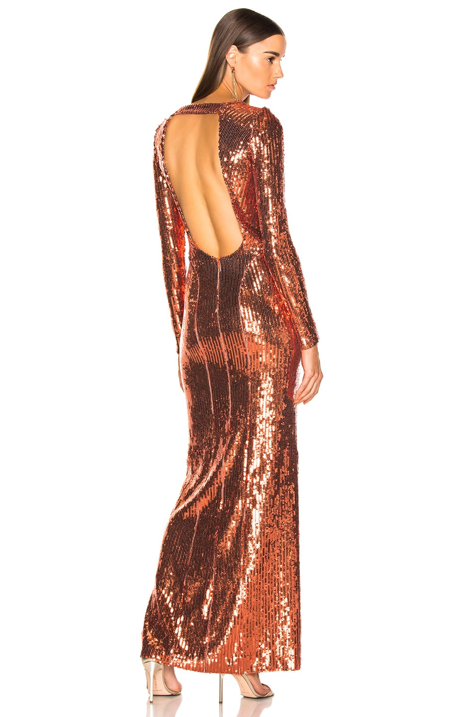 Image 1 of GALVAN Adela Dress in Bronze