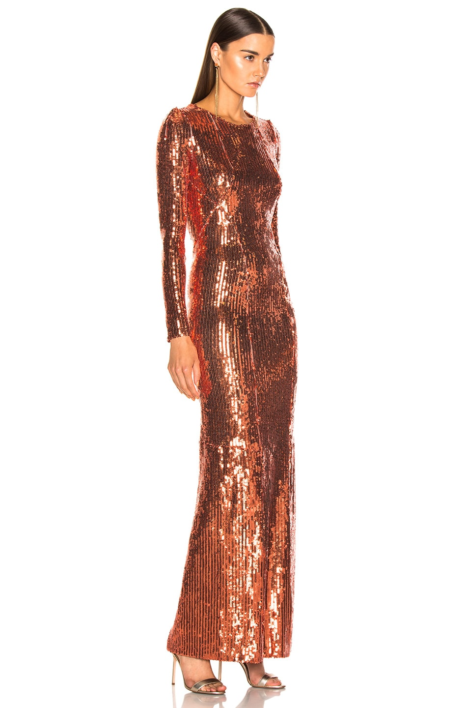 Image 3 of GALVAN Adela Dress in Bronze
