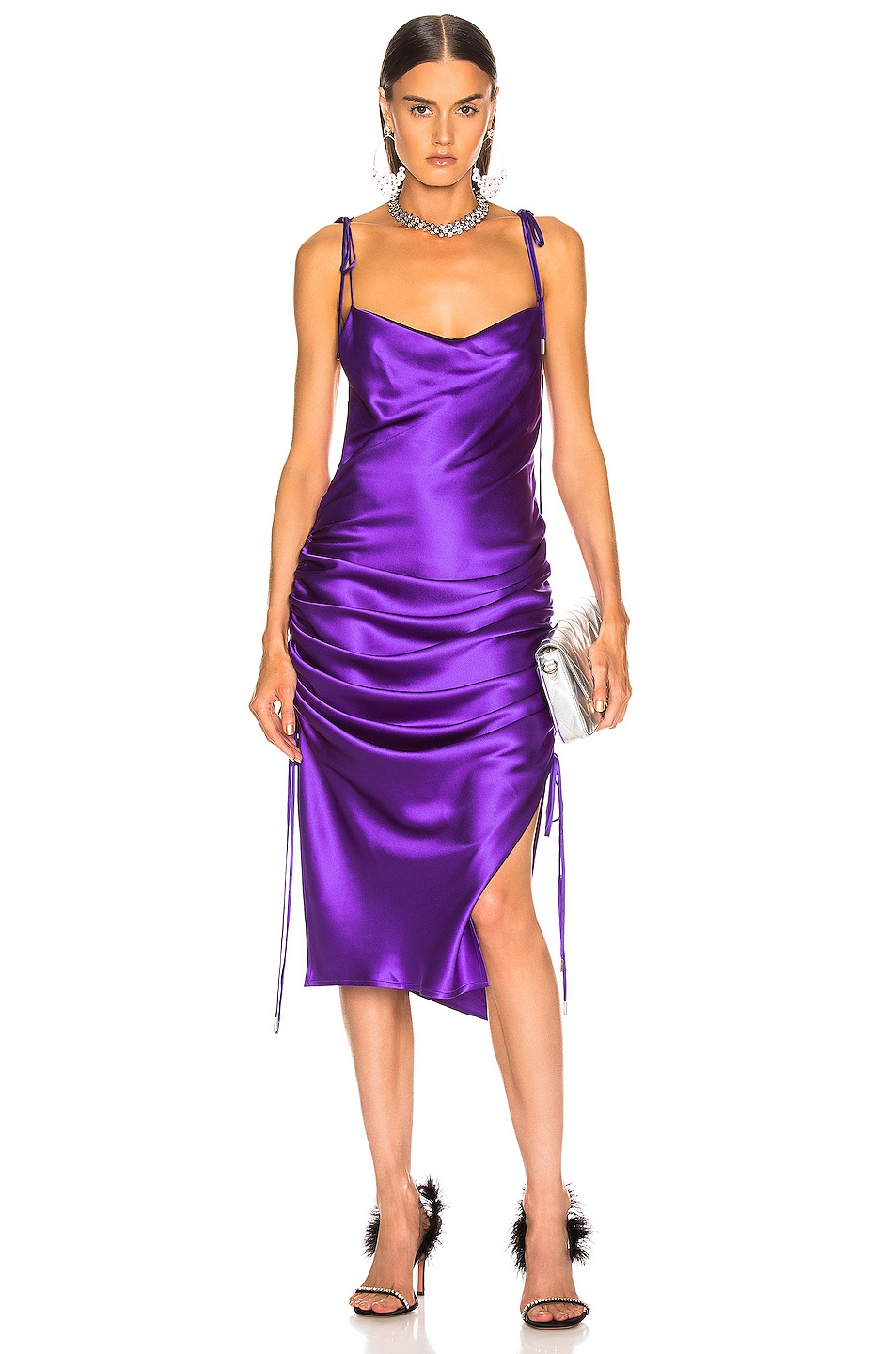 Image 1 of GALVAN Yasmine Dress in Purple