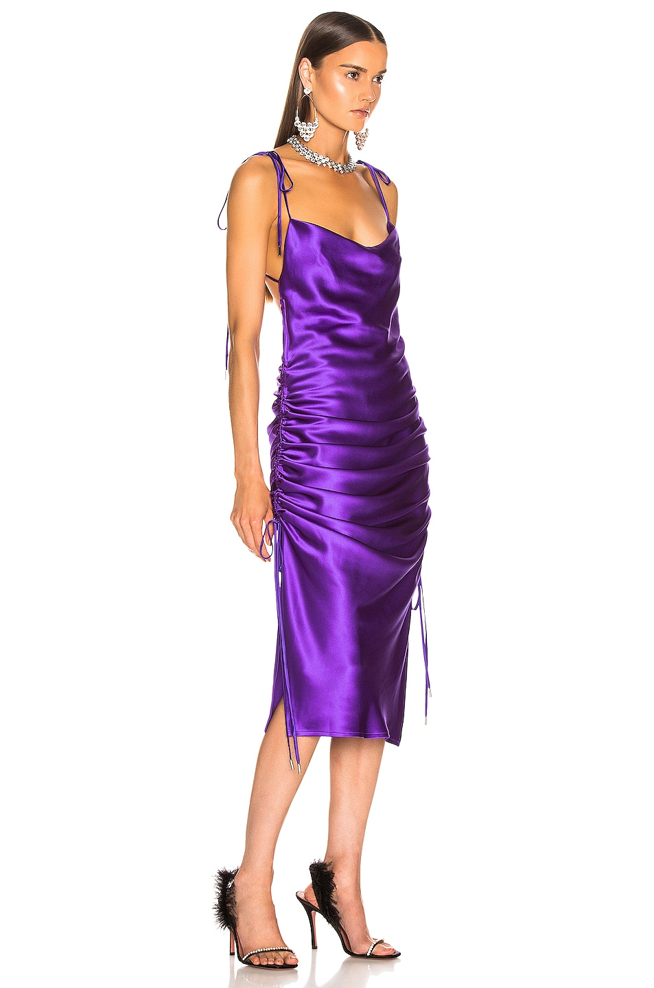 Image 2 of GALVAN Yasmine Dress in Purple