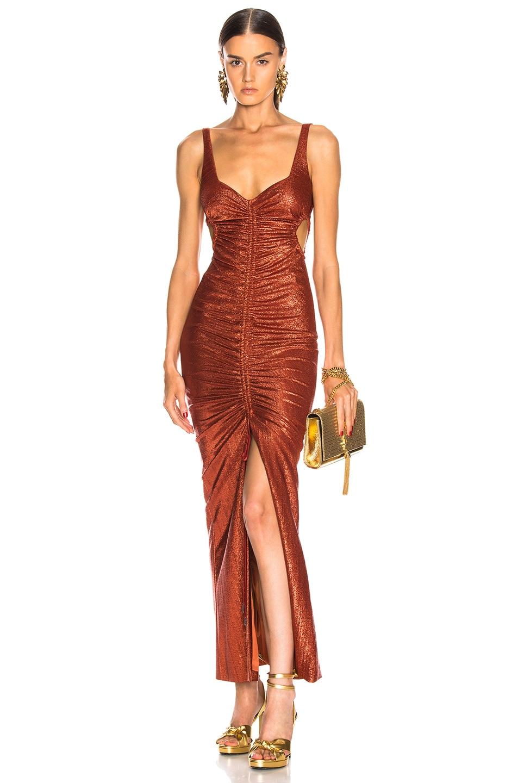 Image 1 of GALVAN Sahara Dress in Rust