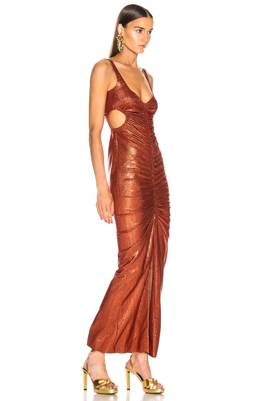 Image 2 of GALVAN Sahara Dress in Rust