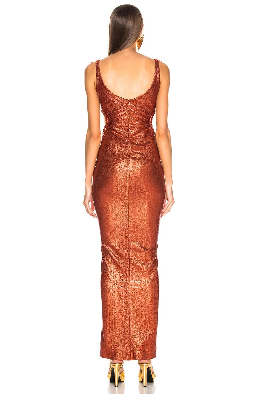Image 3 of GALVAN Sahara Dress in Rust