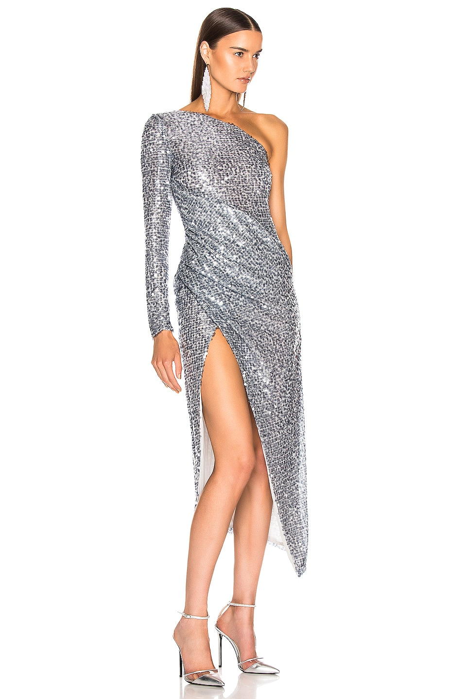 Image 2 of GALVAN Paillette Mamounia Dress in Steel