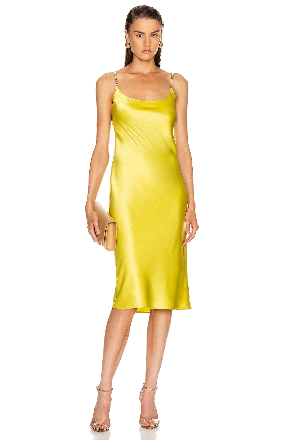 Image 1 of GALVAN Christiane Dress in Lime