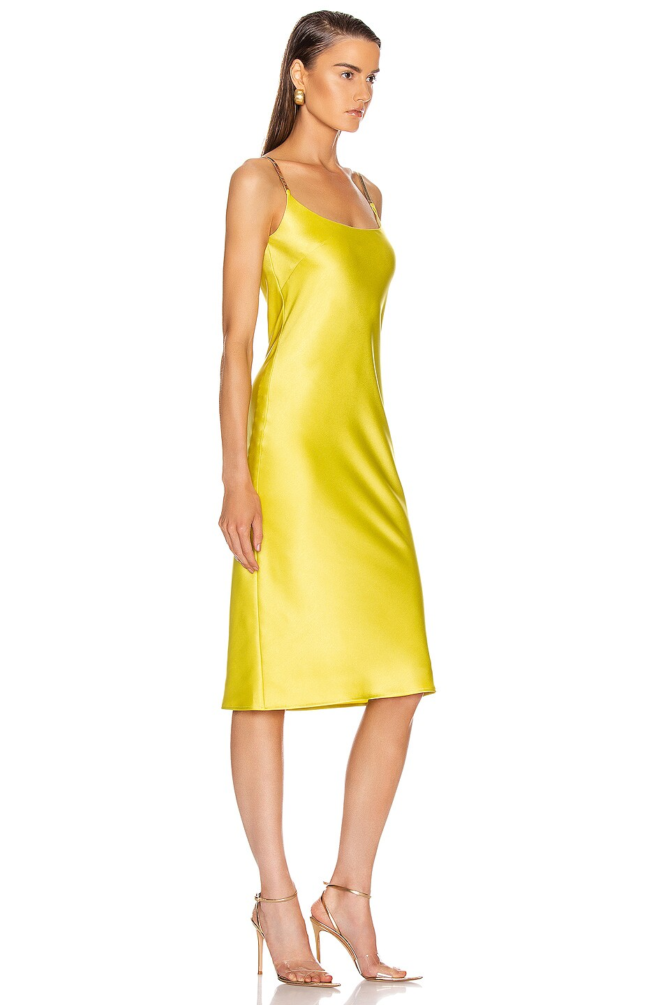 Image 2 of GALVAN Christiane Dress in Lime