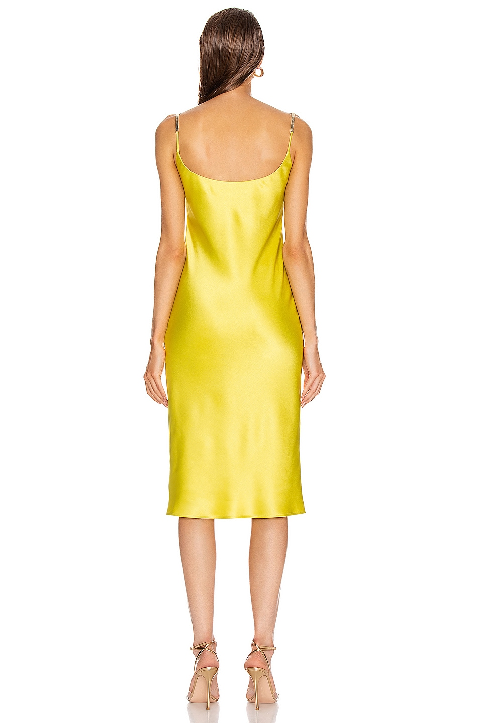 Image 3 of GALVAN Christiane Dress in Lime