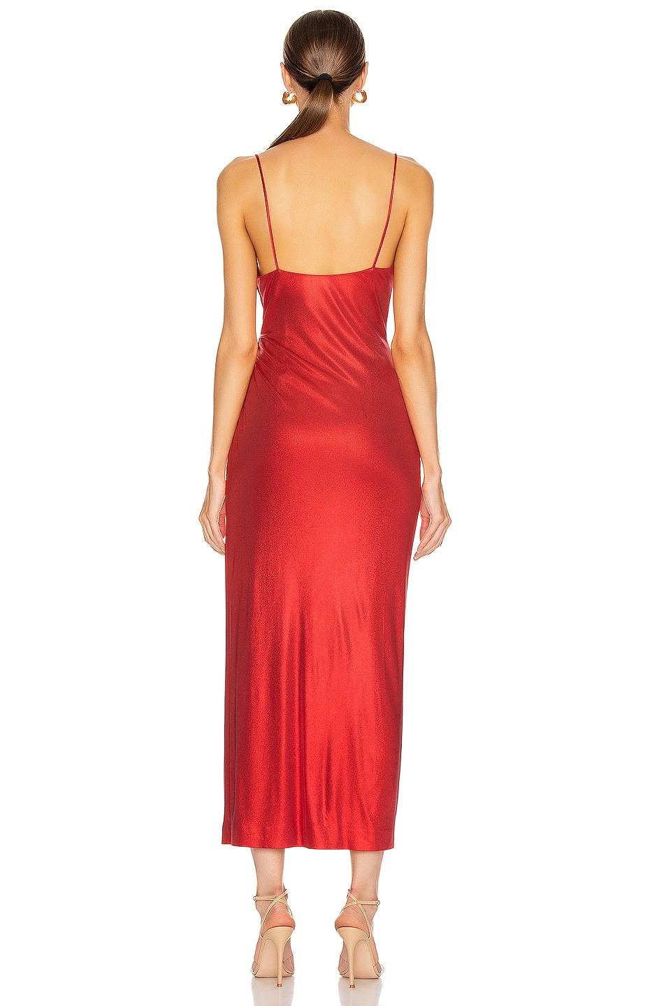 Image 4 of GALVAN Mars Dress in Metallic Red
