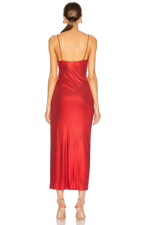 Image 4 of GALVAN Mars Dress in Metallic Red