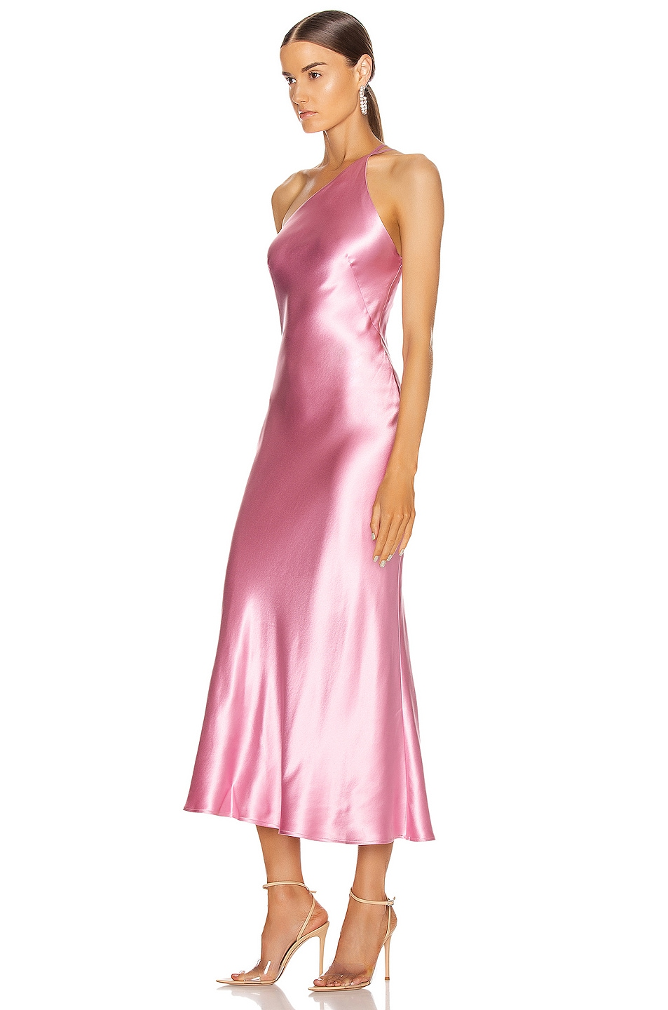Image 3 of GALVAN Cropped Roxy Dress in Rose