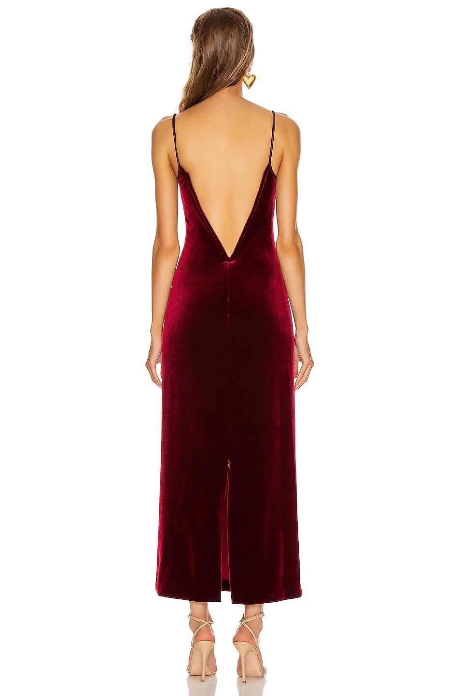 Image 3 of GALVAN Velvet Berlin Bustier Dress in Dark Ruby