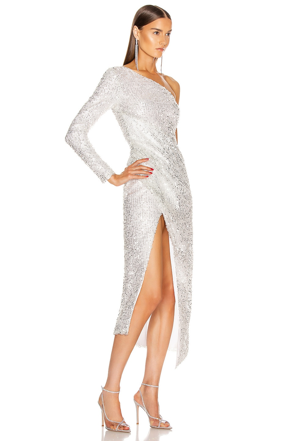 Image 2 of GALVAN Mamounia Dress in Ice White
