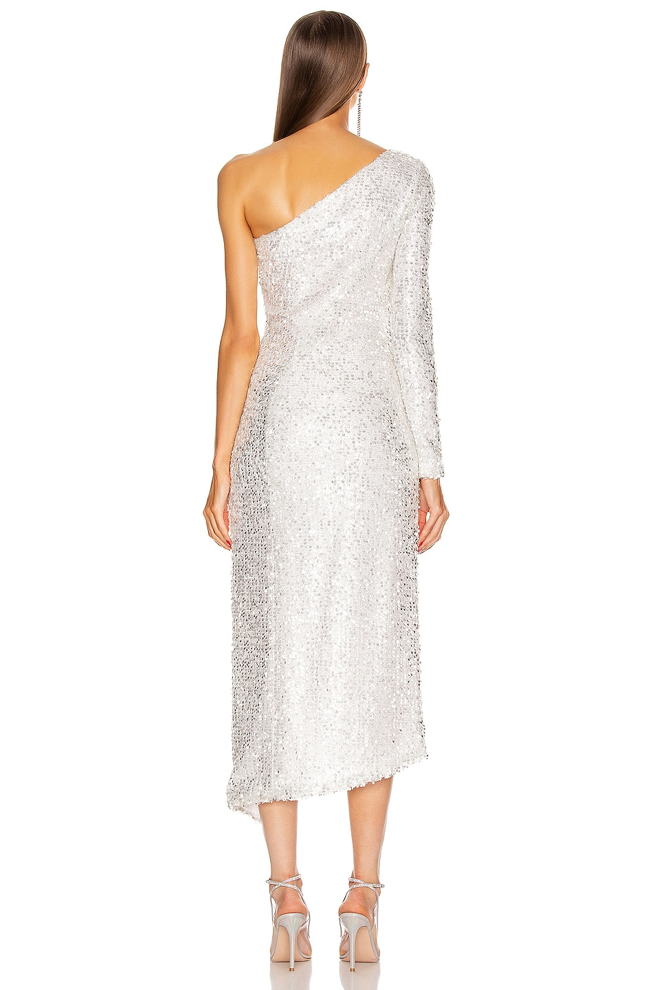 Image 4 of GALVAN Mamounia Dress in Ice White