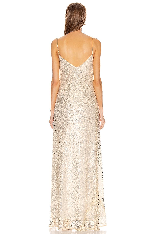 Image 3 of GALVAN Estrella Slip Dress in Pearl White