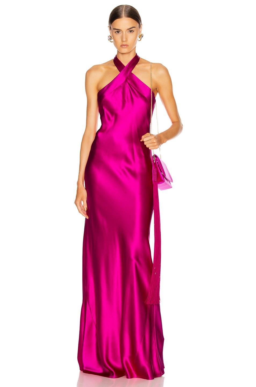 Image 1 of GALVAN Eve Dress in Fuchsia