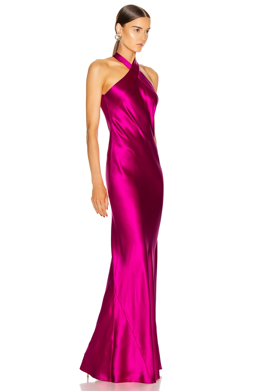 Image 2 of GALVAN Eve Dress in Fuchsia