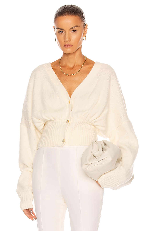 Image 1 of GALVAN Luna Pearl Cardigan in Ivory