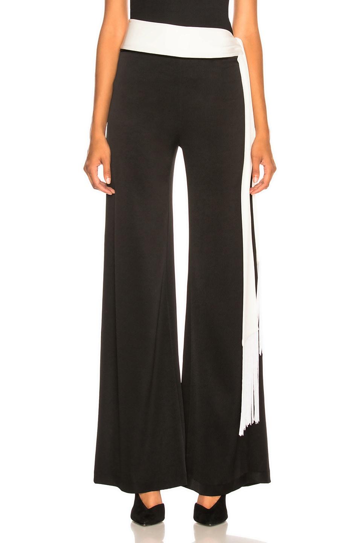 Image 1 of GALVAN Crepe Vesper Trouser in Black & White
