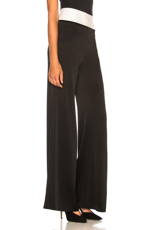 Image 2 of GALVAN Crepe Vesper Trouser in Black & White