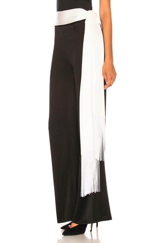 Image 3 of GALVAN Crepe Vesper Trouser in Black & White