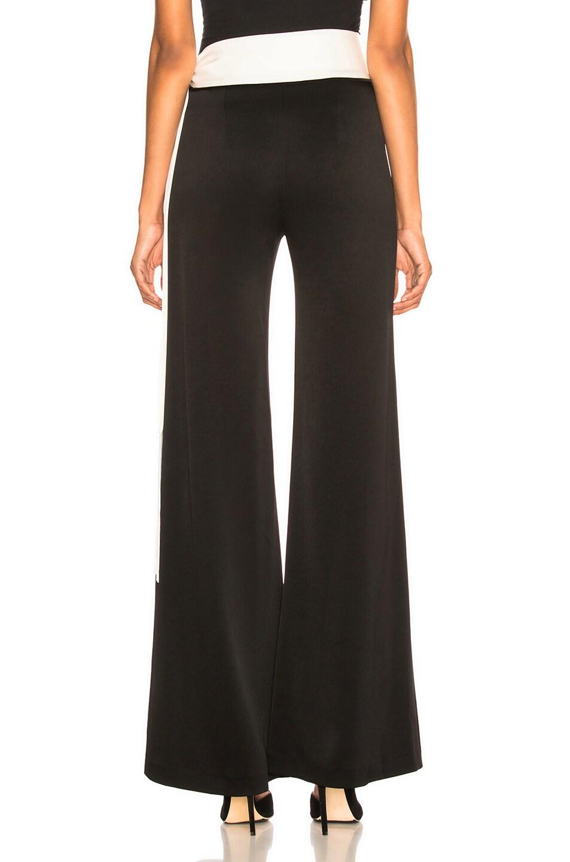 Image 4 of GALVAN Crepe Vesper Trouser in Black & White